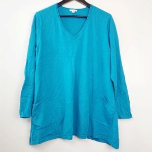 Pure J. Jill • Cotton Cashmere Tunic Large
